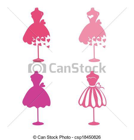 Vector mannequins stock illustration. Dress clipart logo
