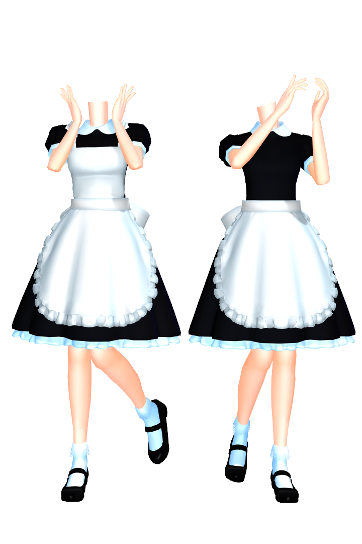 Mmd dl series set. Maid clipart maid outfit