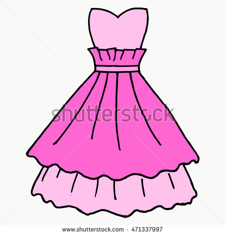 Pink free download best. Dress clipart party dress