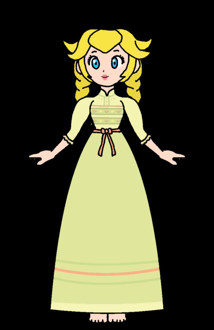 Peach anna night gown. Dress clipart princess costume