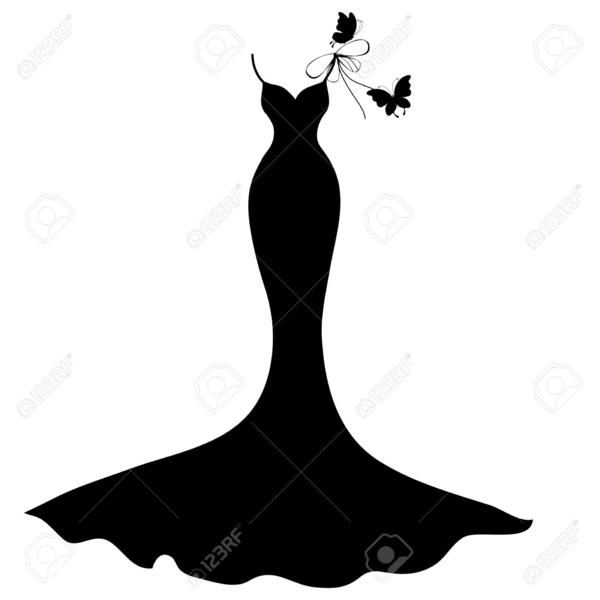 Dress clipart silhouette. Little black free images
