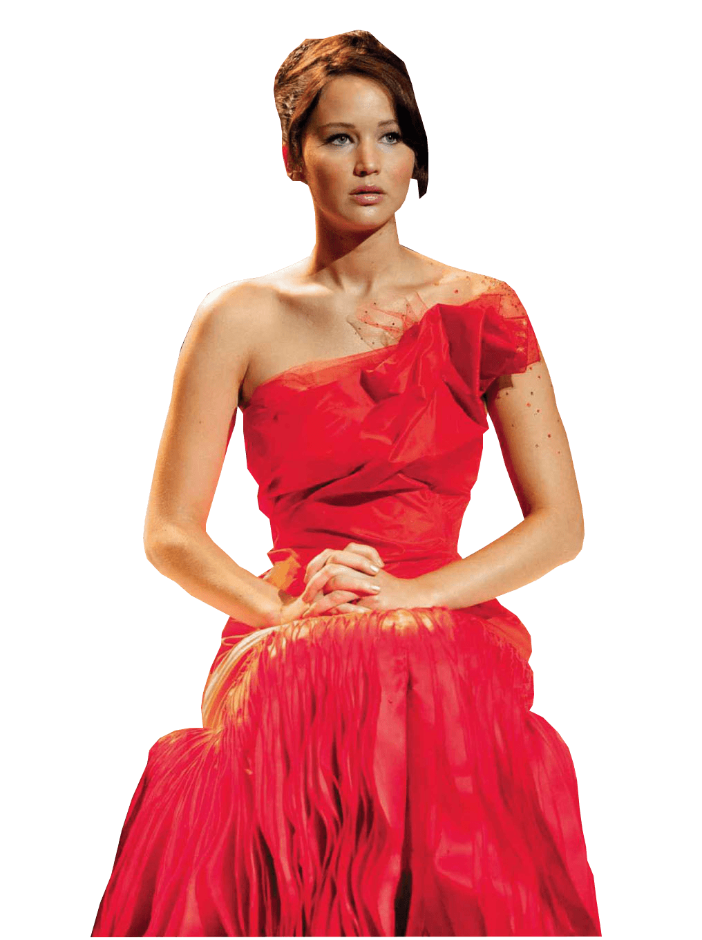 Jennifer lawrence red transparent. Dress clipart sleeveless dress