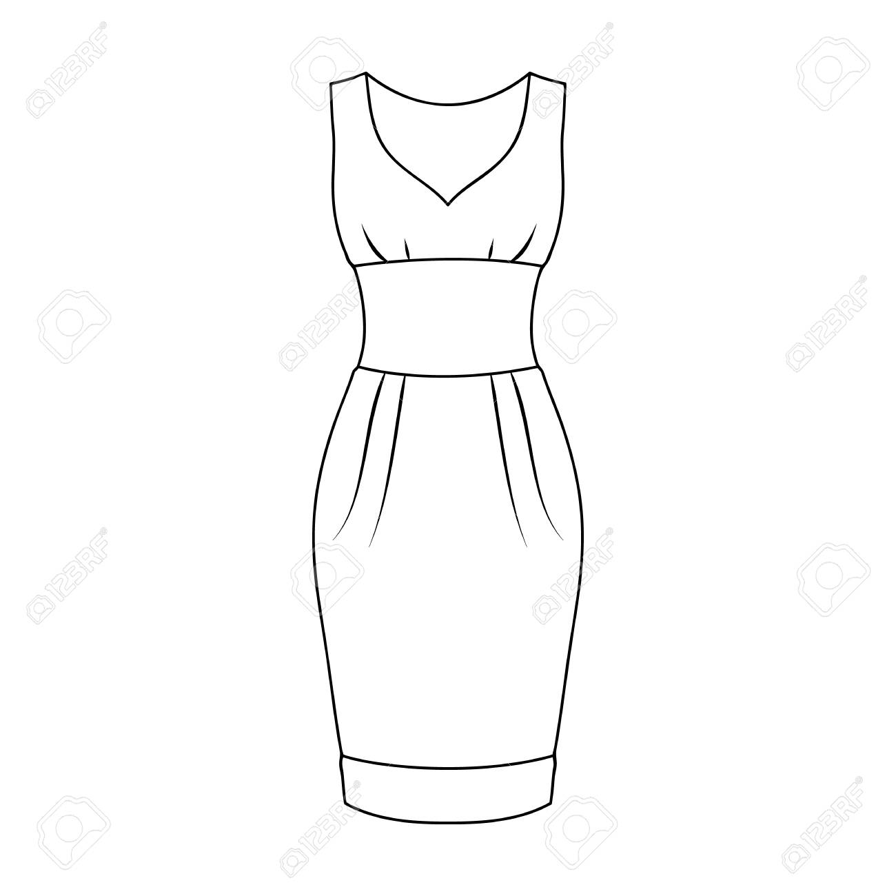 Black x free . Dress clipart sleeveless dress