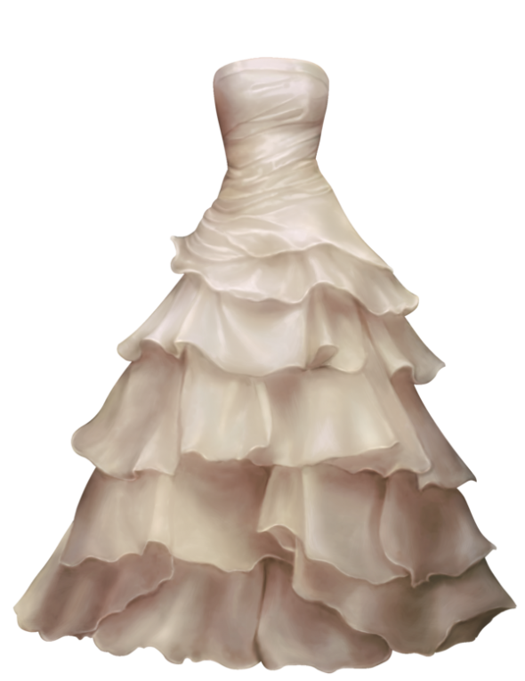 Wedding in png web. Dress clipart strapless dress