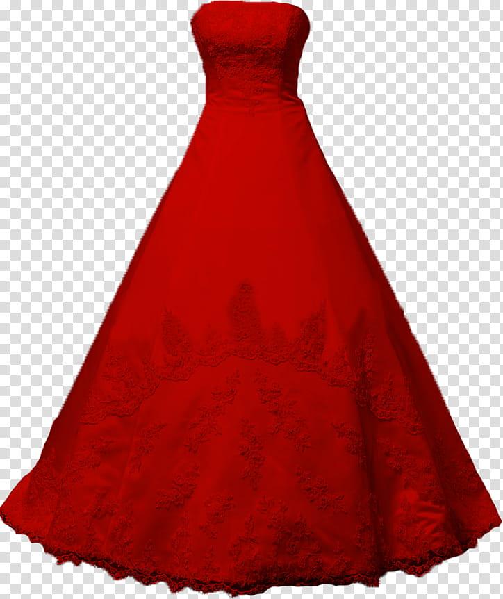 Red long transparent background. Dress clipart strapless dress