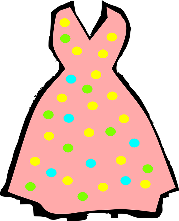 Wedding pencil and in. Dress clipart summer dress