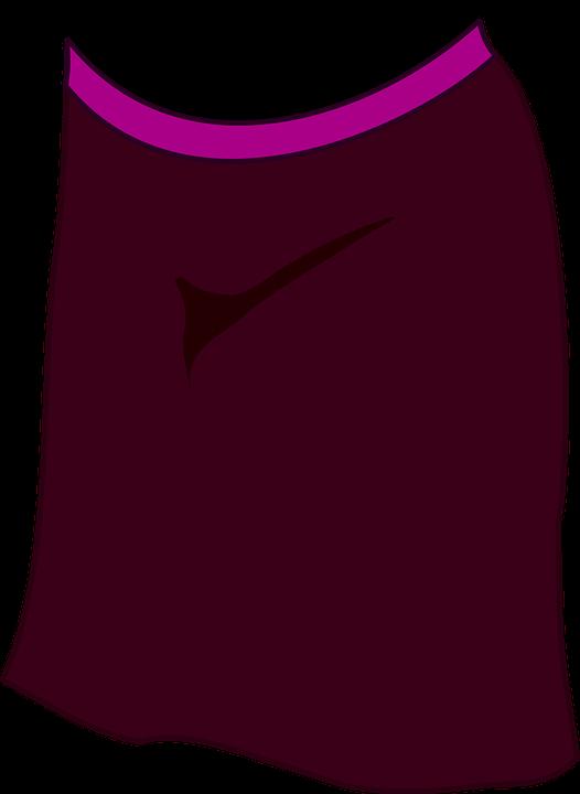 Dress clipart vector. Violet skirt free on