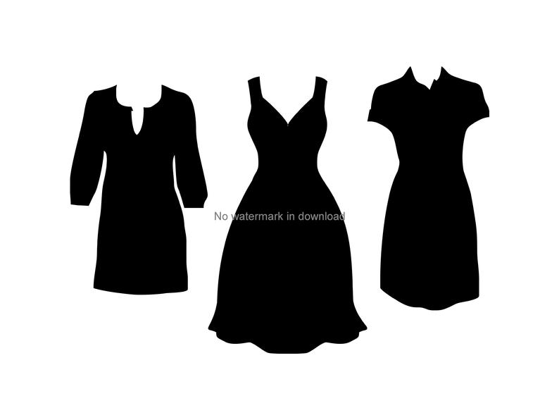 Dresses svg dxf png. Dress clipart vector
