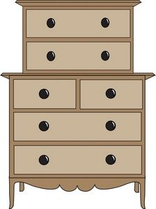 furniture. Dresser clipart