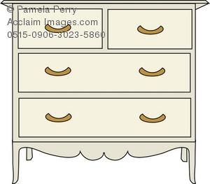 Dresser clipart. Clip art illustration of