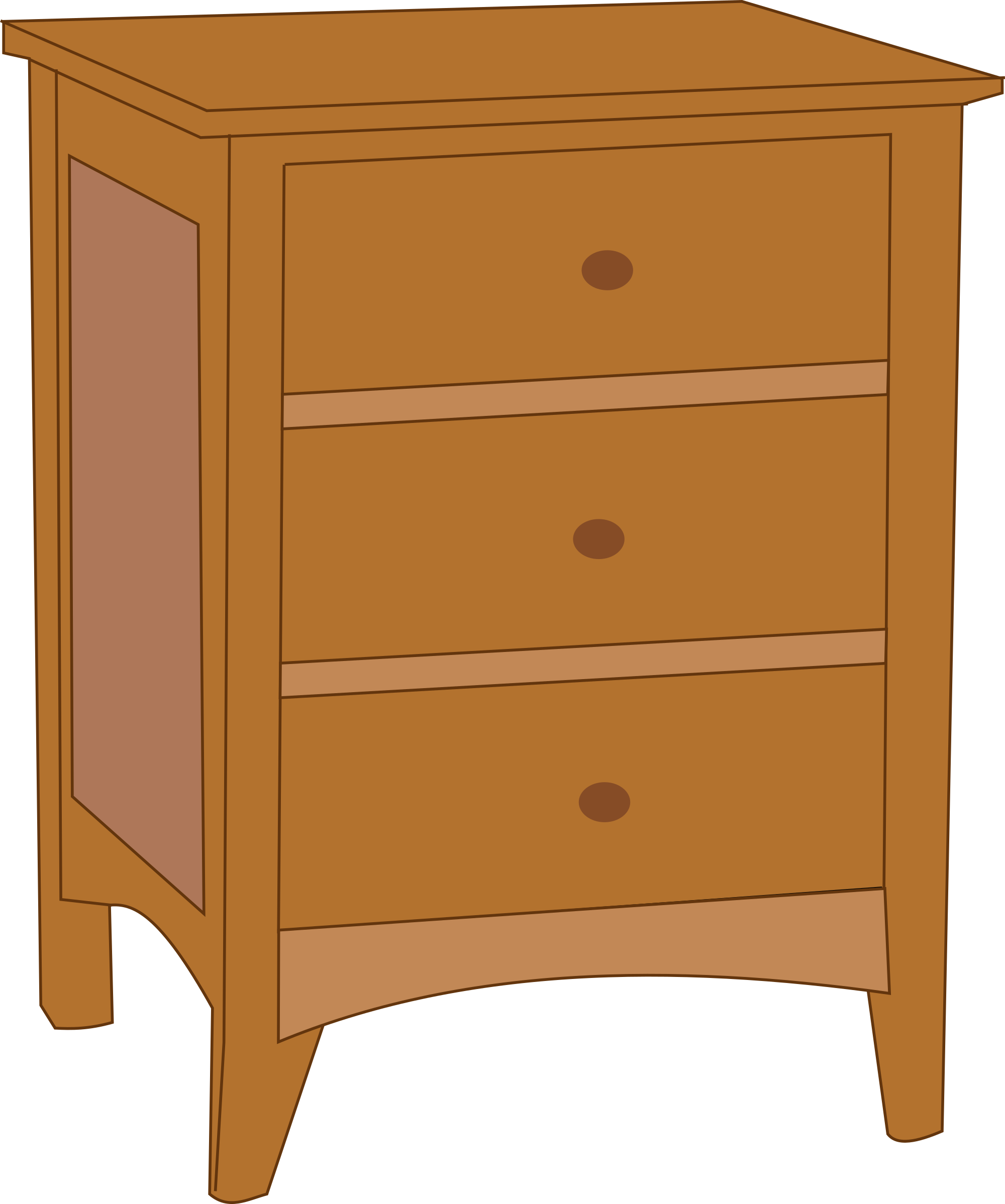 Bedroom drawers cartoon clipground. Furniture clipart chest drawer