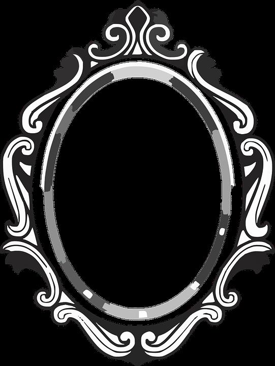 Mirror clipart large.  tonnant cadre miroir