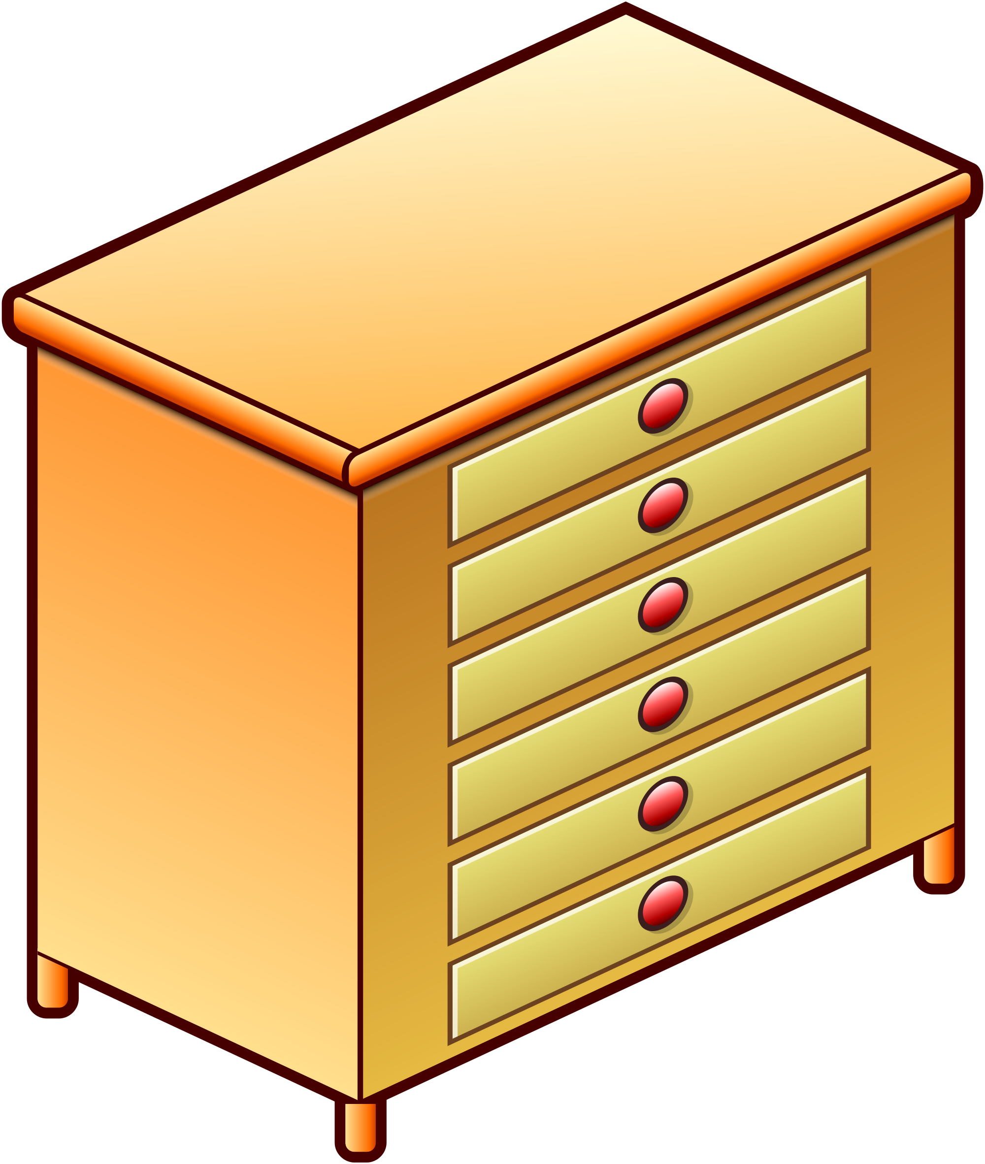 Dresser Clipart Open Drawer Dresser Open Drawer