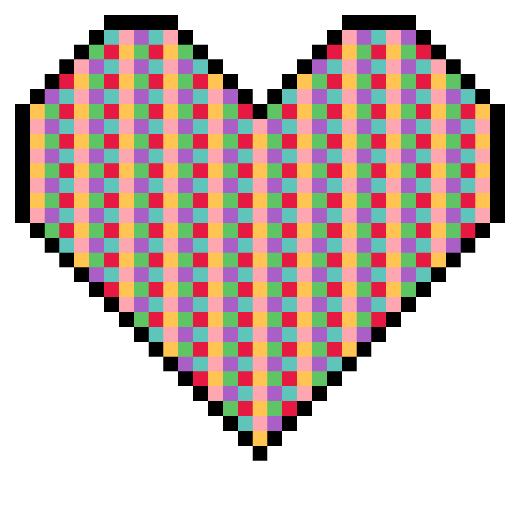 Hearts clipart plaid. Pixel art heart