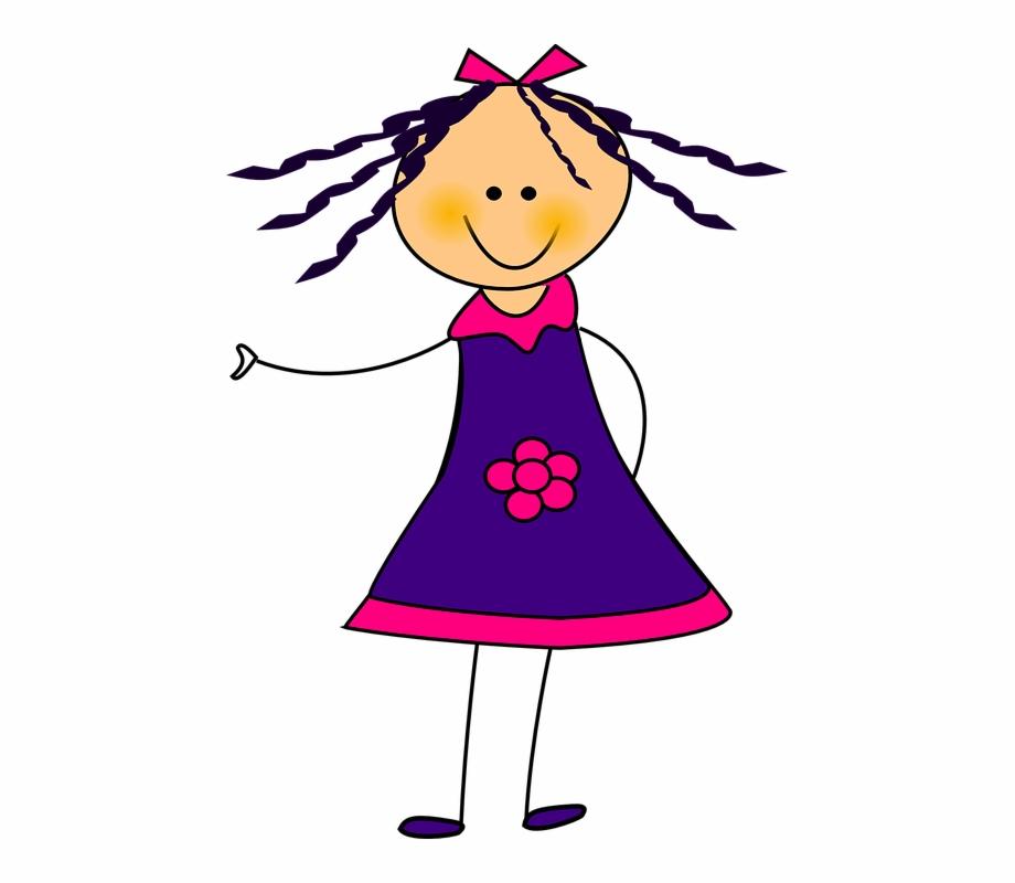 Girl clipart purple. Dress ribon flower smile