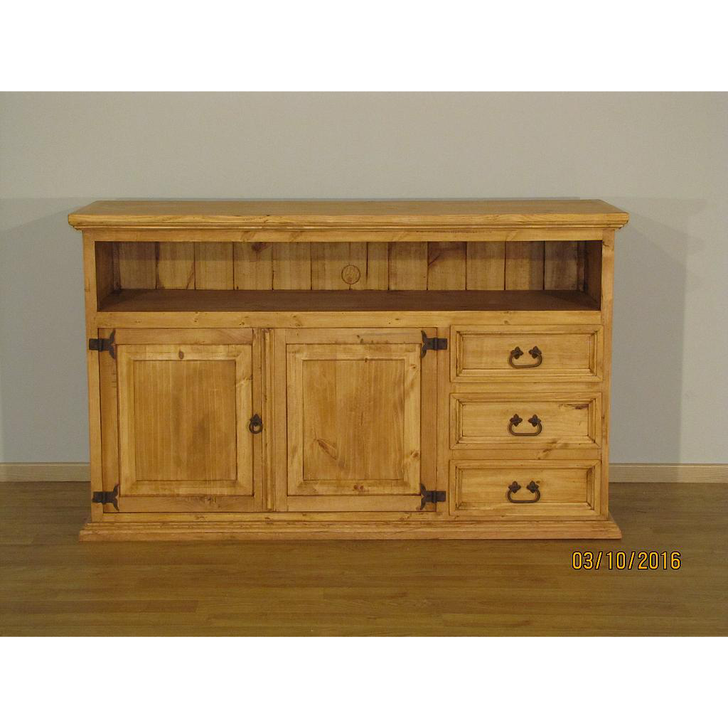 Dresser clipart tv stand. Heritage new rustic contemporary