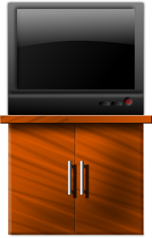 Free television clip art. Dresser clipart tv stand