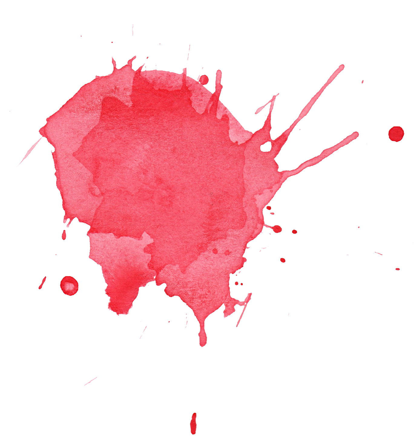 Stain red watercolor splatter. Dried blood png