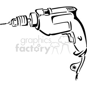 Royalty free black and. Drill clipart