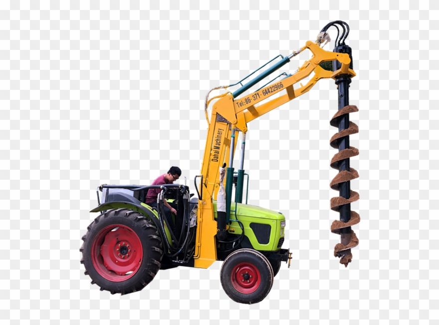Drill clipart boring machine. Ground drilling post hole