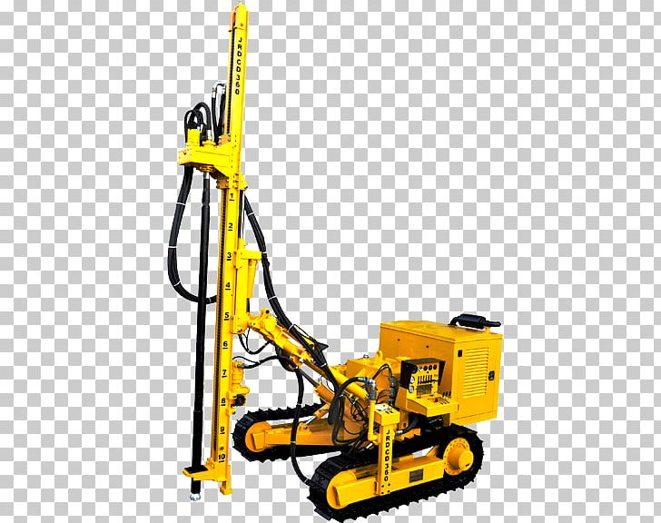 Drill clipart boring machine. Drilling rig augers down