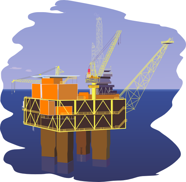 Offshore rig clip art. Oil clipart oil drilling