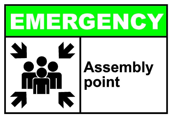 Emergency preparedness events campus. Drill clipart evacuation area