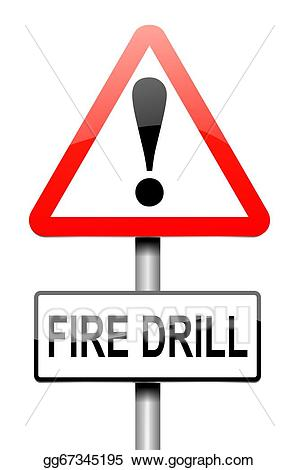 Drill clipart fire. Stock illustration concept drawing