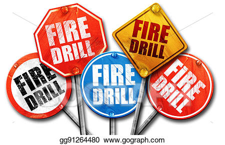 Drill clipart fire. Stock illustrations d rendering