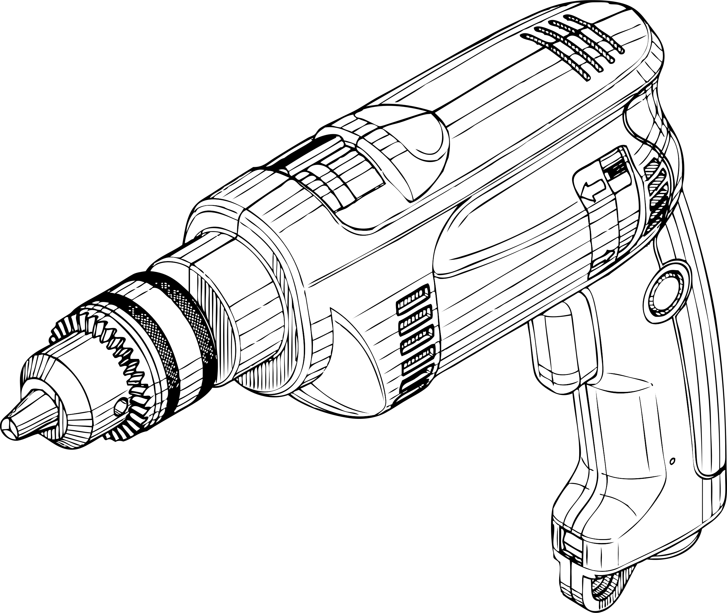 Electric big image png. Drill clipart hand drill