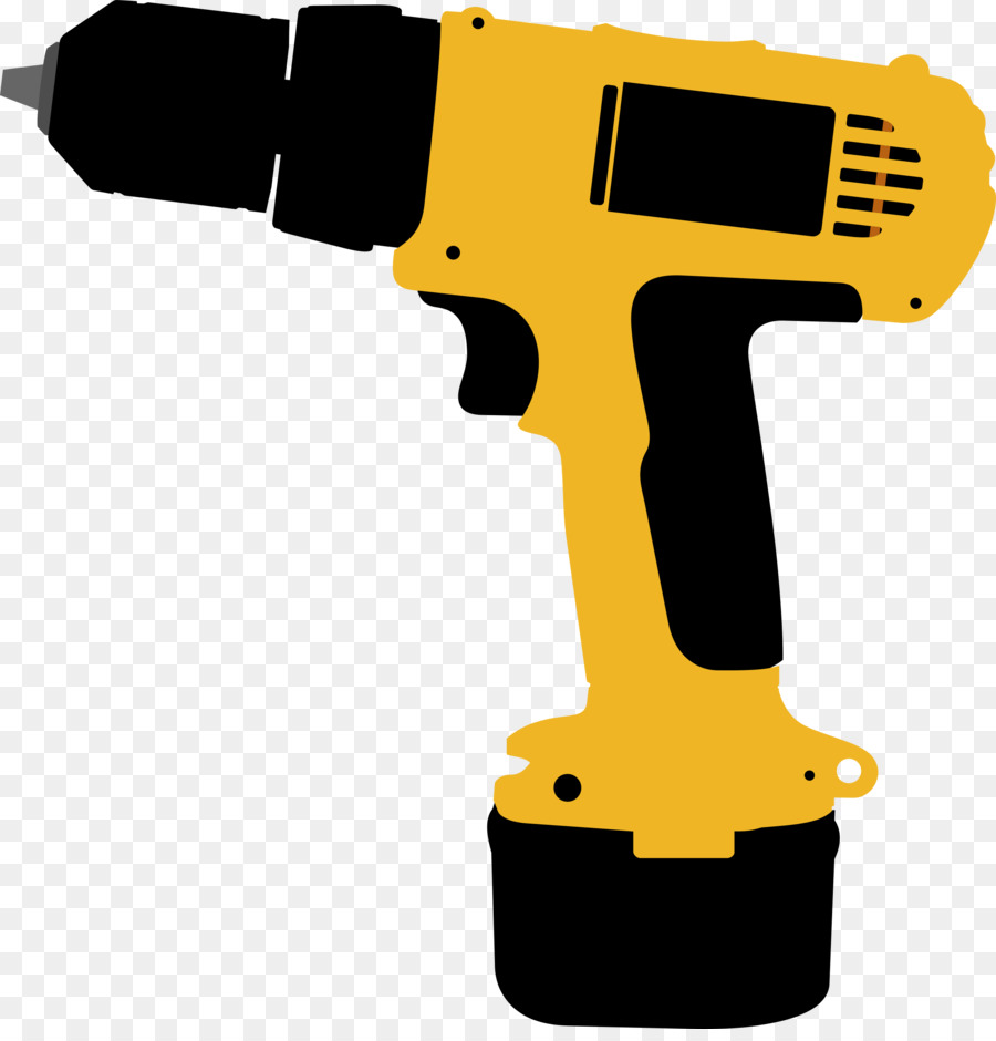 Cartoon screwdriver transparent clip. Drill clipart hand drill