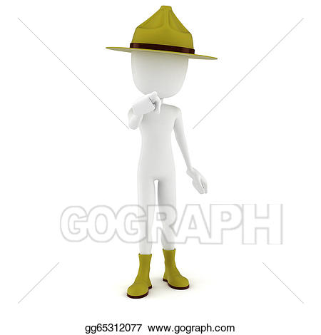 Drawing d sergeant pointing. Drill clipart man