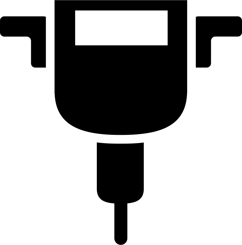 Drill clipart pneumatic drill. Svg png icon free