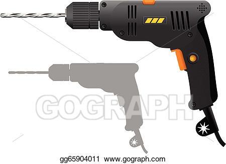 Vector art drawing gg. Drill clipart power tool