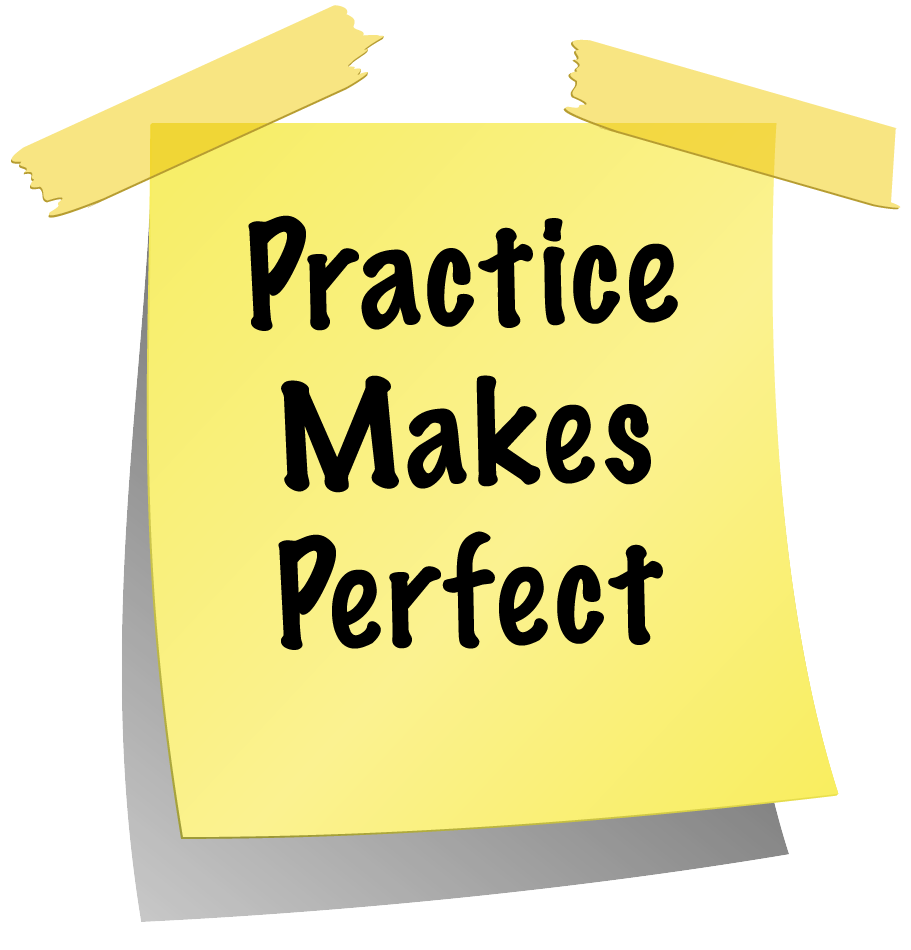 Practice makes perfect when. Writer clipart writing article