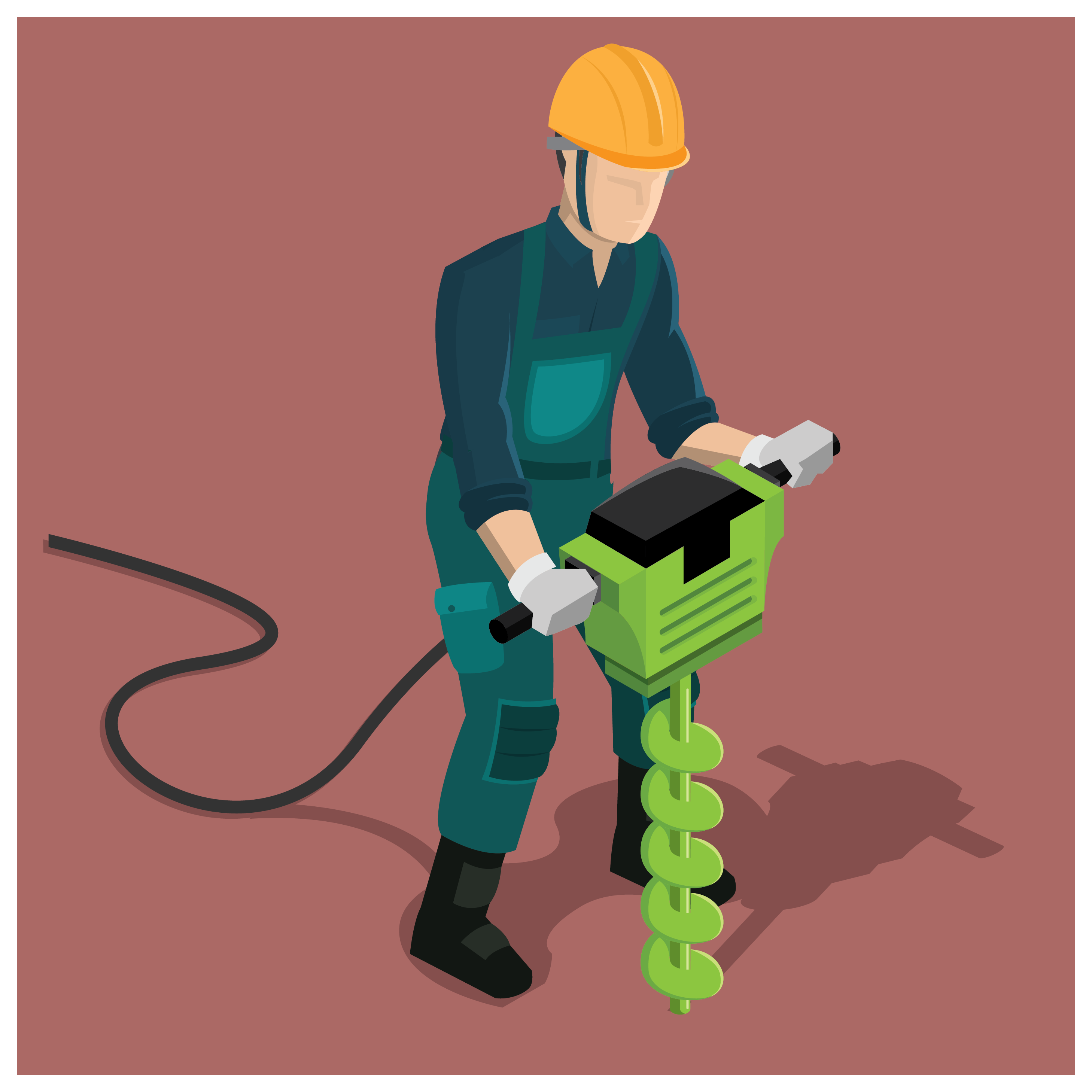 Drill clipart road worker. Construction man vector download