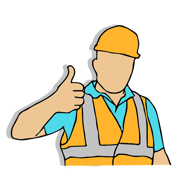 Construction worker heartlove info. Working clipart health safety