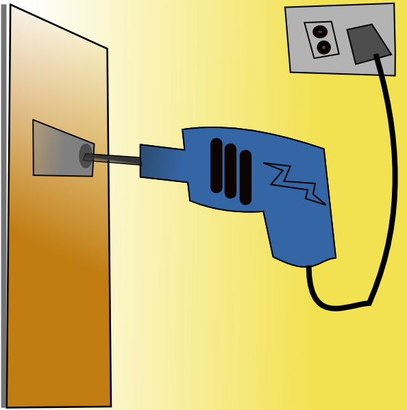 Electric clip art at. Drill clipart working