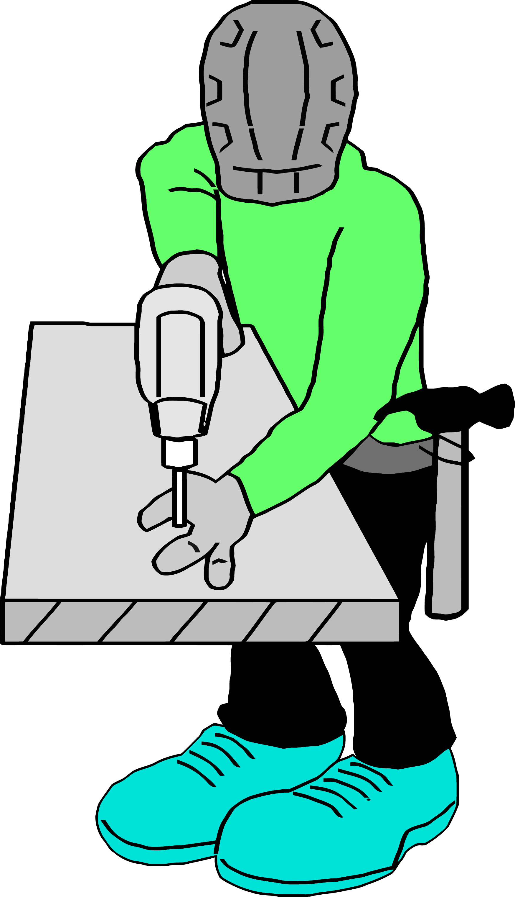 Carpenter png clipartly comclipartly. Drill clipart working