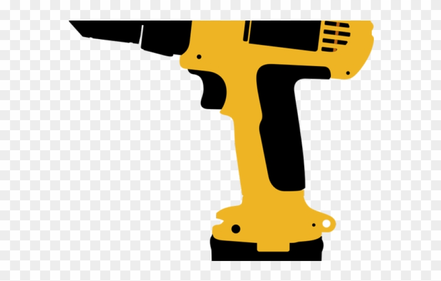 Drill clipart working. Screwdriver power tool electric