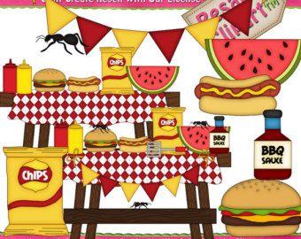 Drink clipart bbq. Lil set camping picnic