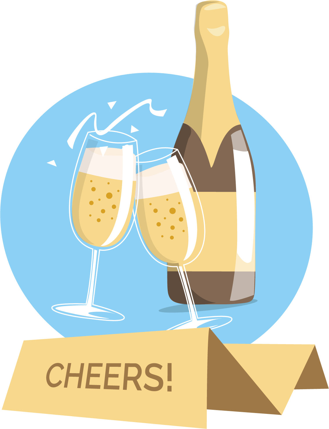 Drinks clipart vector. Toast food wine frames