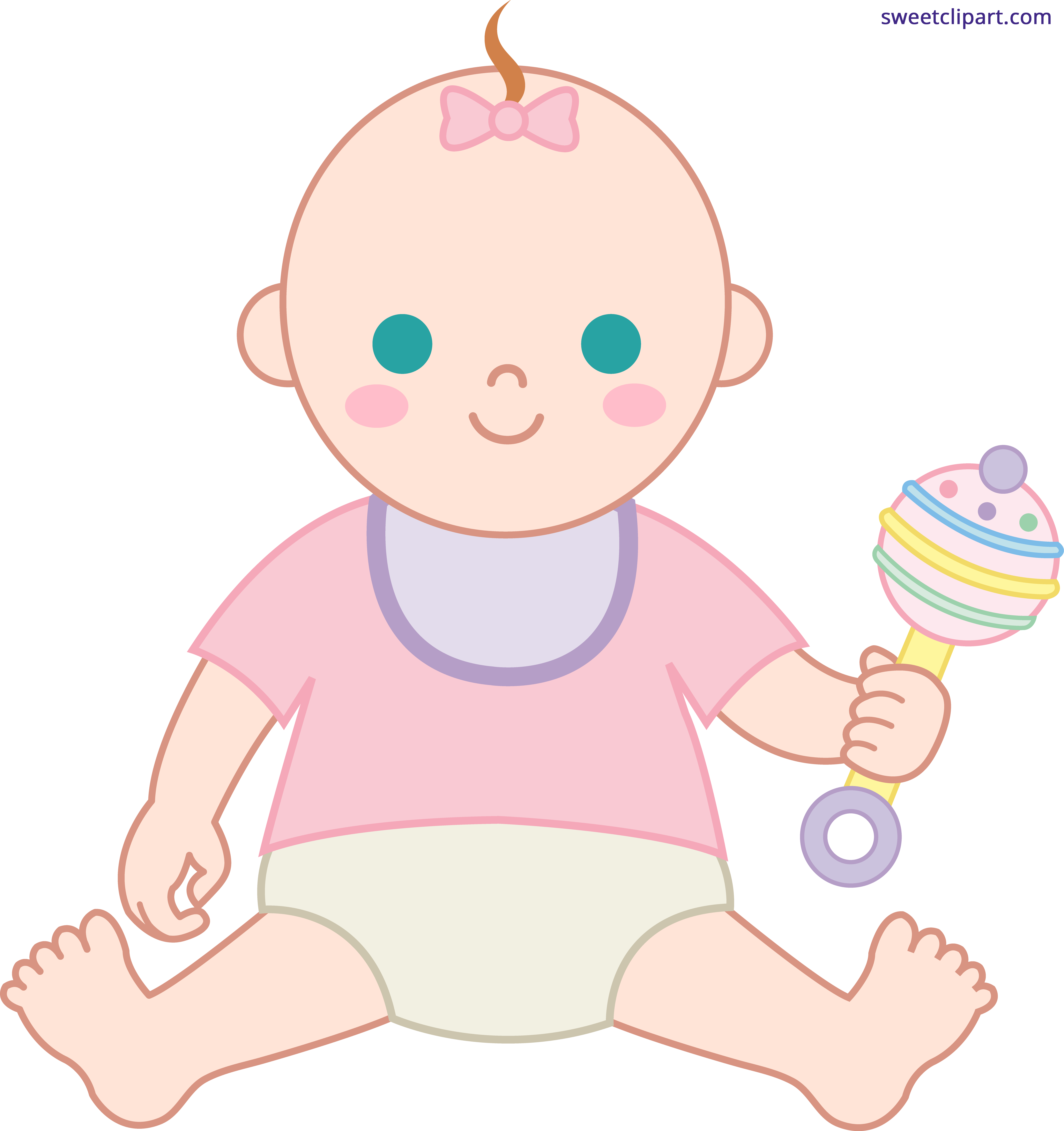 Baby girl sweet clip. Hamster clipart tooth cute