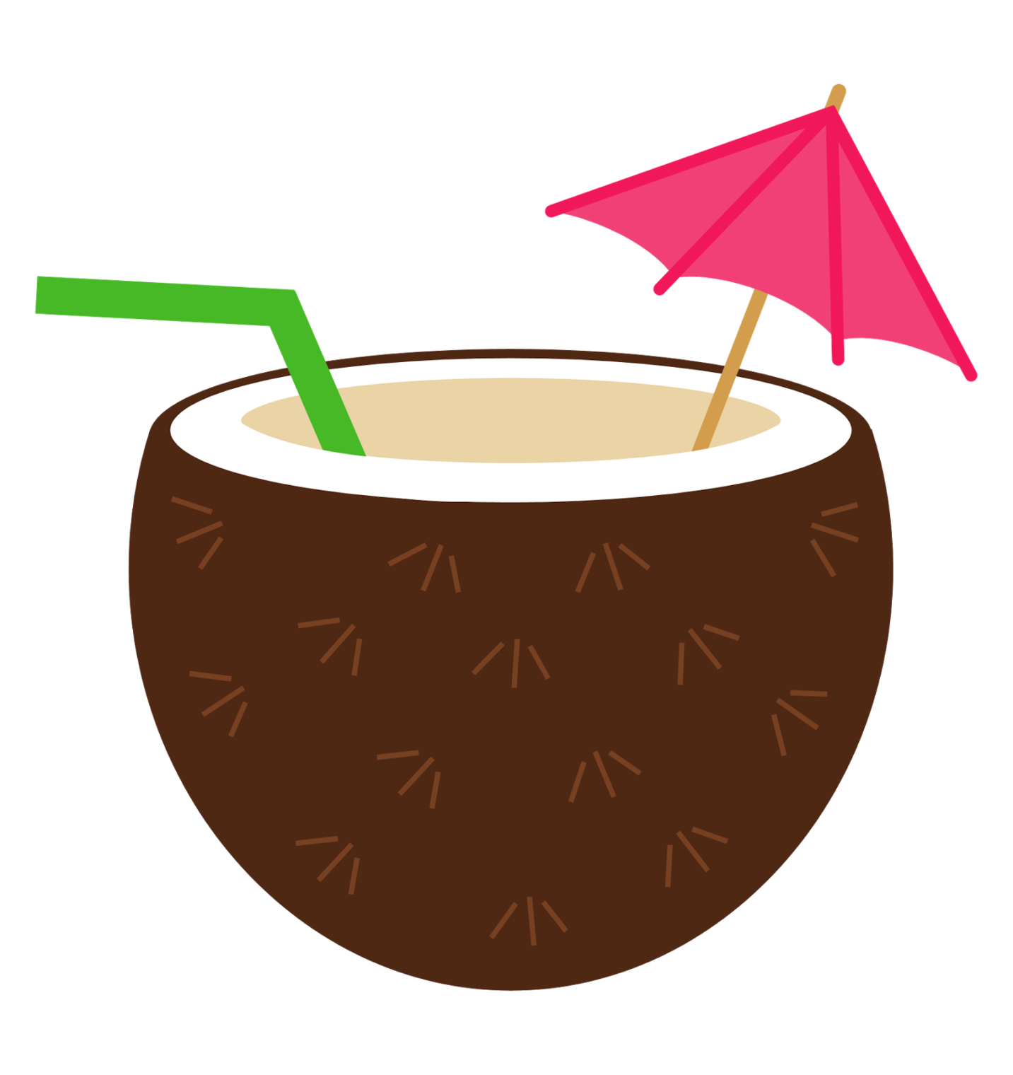 drinks clipart coconut