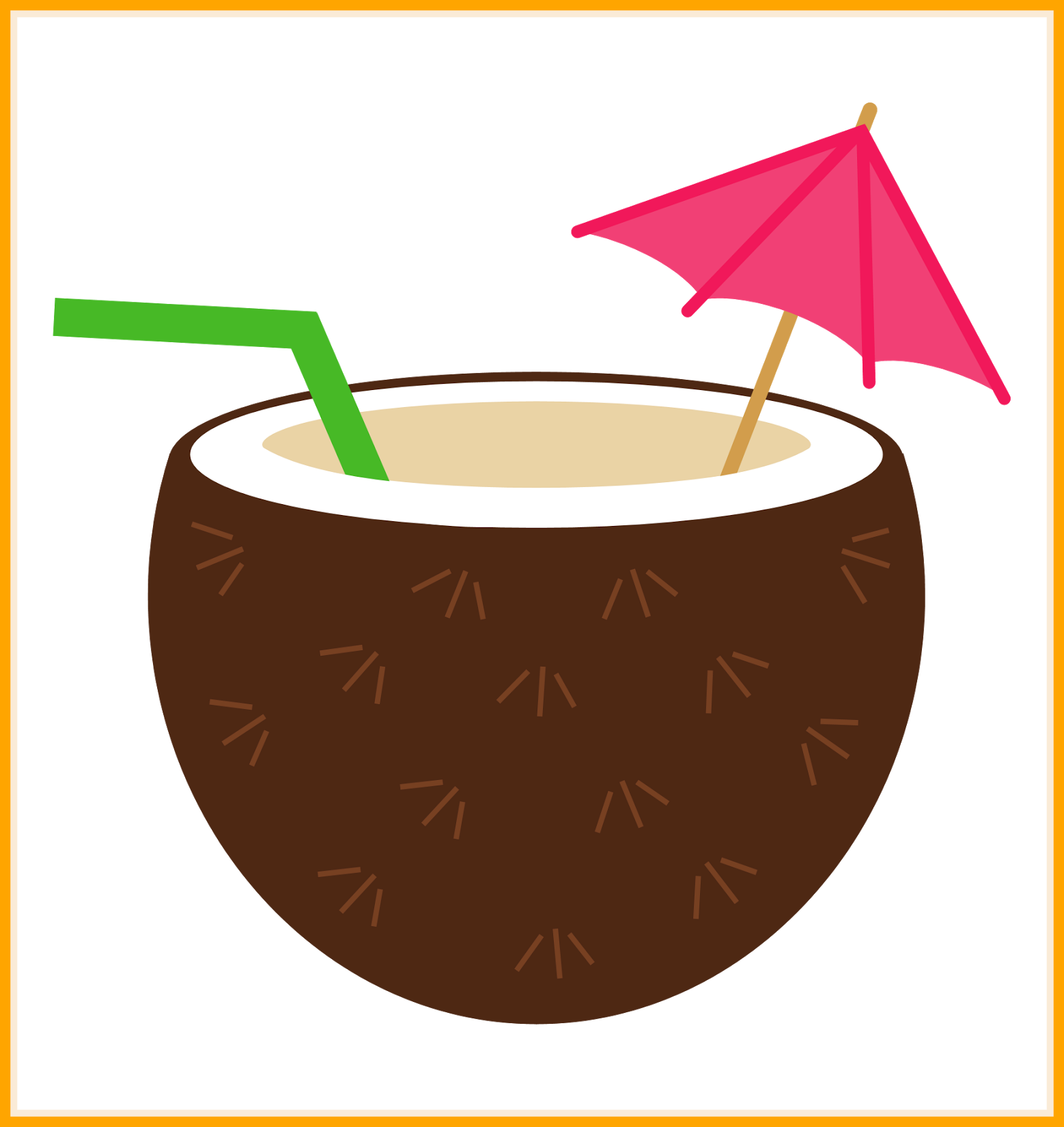Incredible drawing ing image. Drink clipart coconut