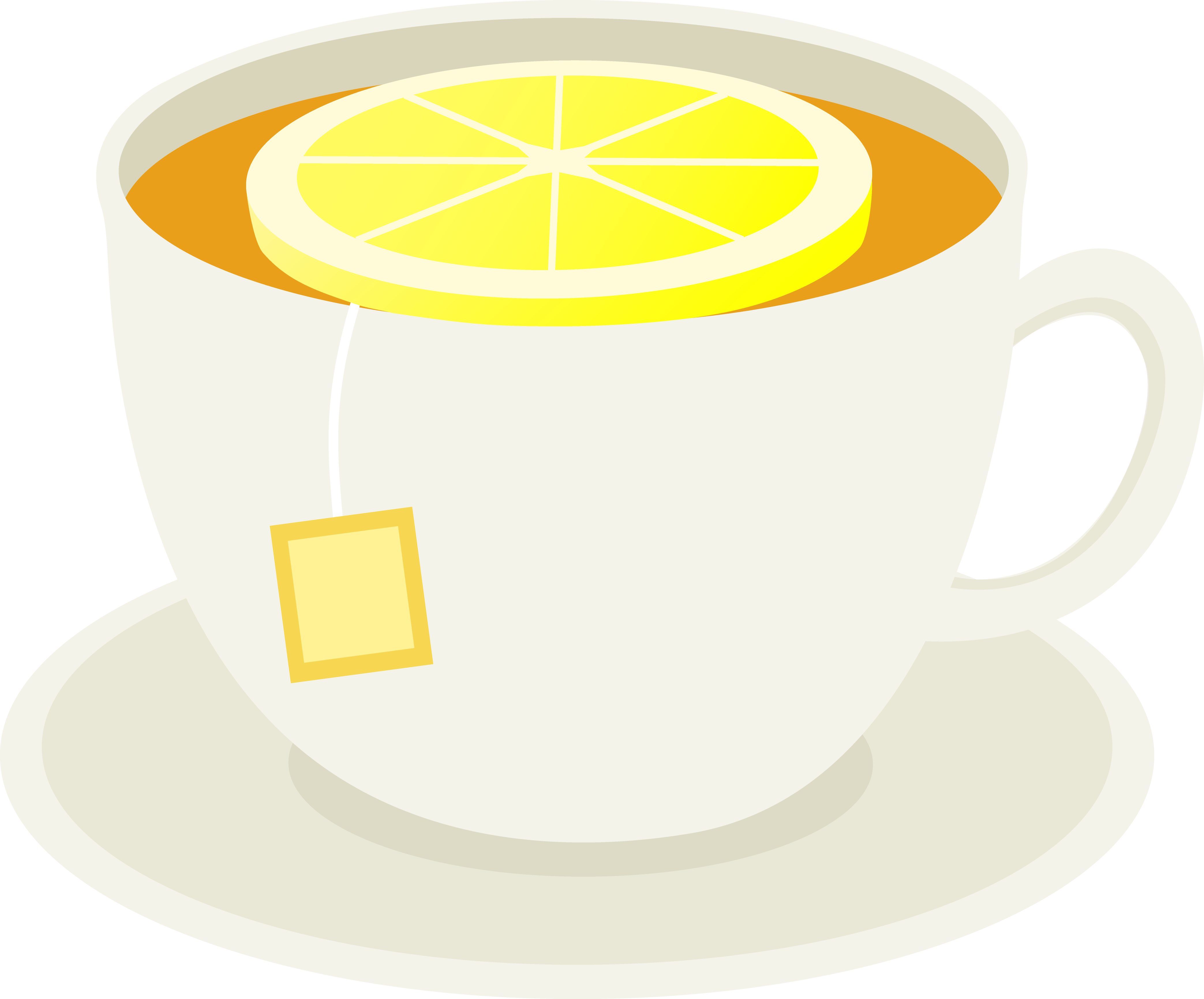 Drink clipart cup hot tea. Of with lemon slice