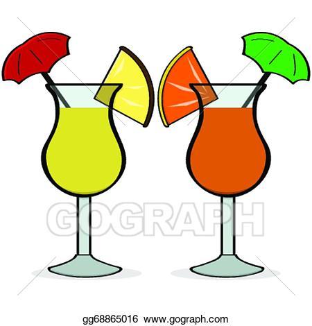 Drink clipart fancy drink. Vector art umbrella drinks