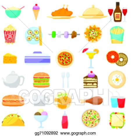 Drink clipart food item. Eps vector and stock