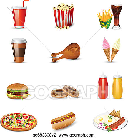 Eps vector fast stock. Drink clipart food item