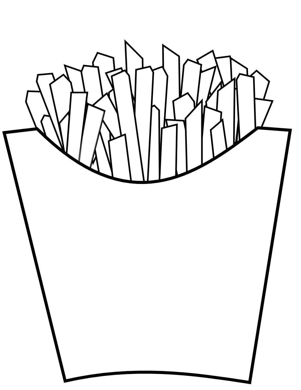 cool french fries. One clipart fry
